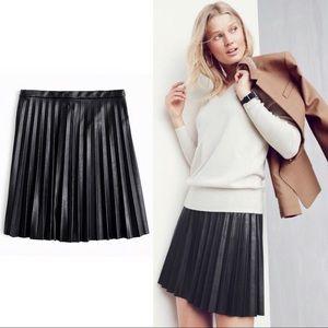 254385c3c Women's Pleated Leather Mini Skirt on Poshmark
